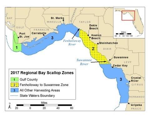 2017 Regional Bay Scallop Zones