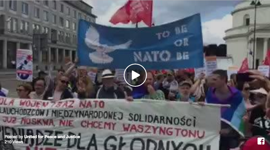 UFPJ @ No To NATO in Warsaw