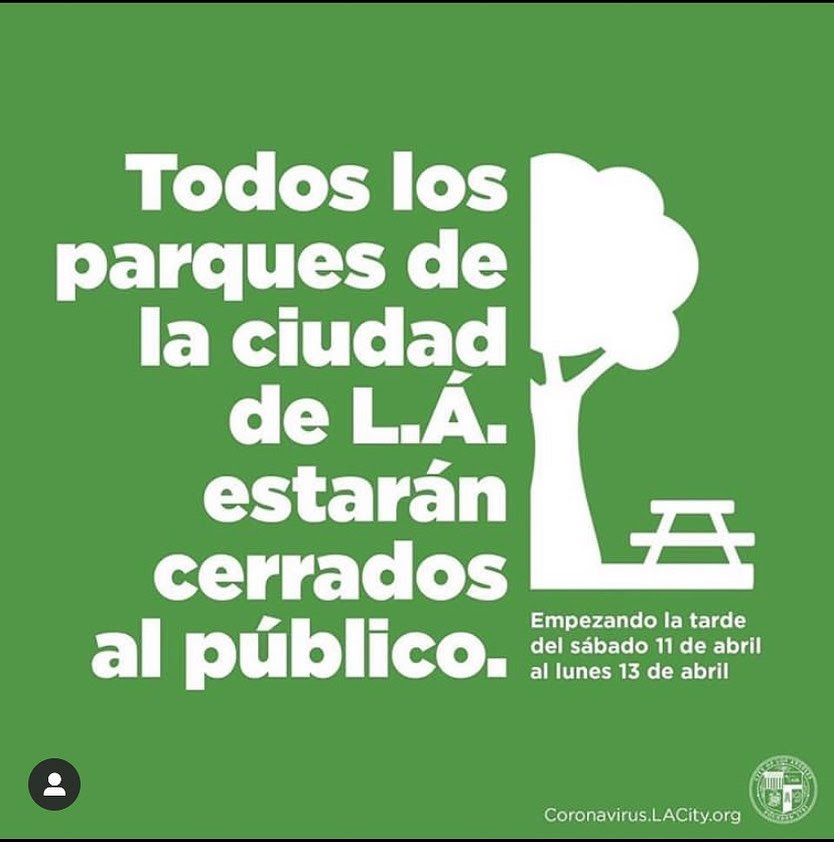 All Parks Closed Spanish