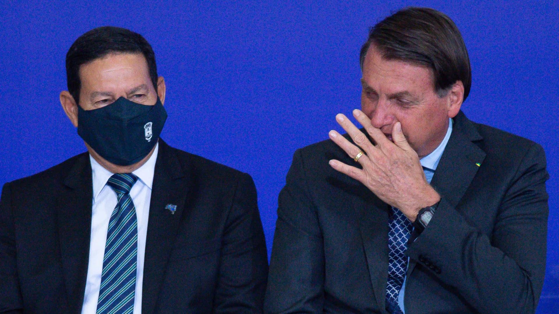 Bolsonaro tem relação de adversário com Mourão, em postura similar à de Dilma