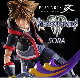 KINGDOM HEARTS III SORA PLAY ARTS KAI FIGURE