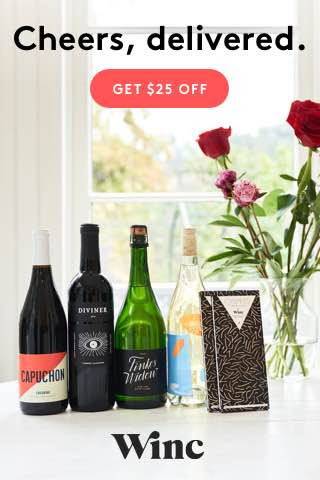 Winc Wine: $25 off your first.