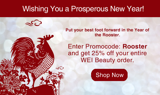 Happy Chinese New Year 25% Off WEI Beauty