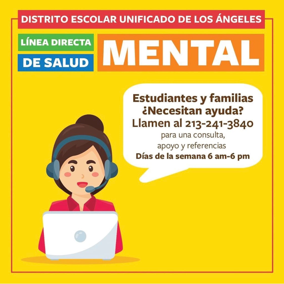 LAUSD Mental Health Services Spanish