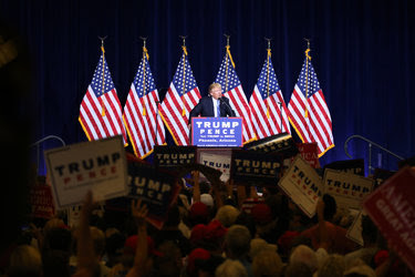 Donald J. Trump in Phoenix on Wednesday. Hopes that he was softening his immigration policy faded after his fiery speech.