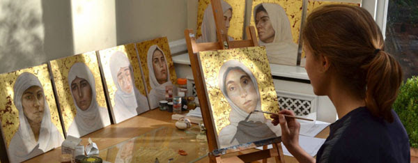 Thumbnail The young artist lending her paintbrush to Yazidi women