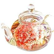 【母の日】ギフトにおすすめ 花咲く工芸茶10種とガラスティーポット