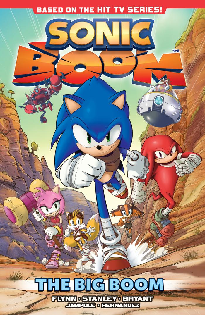 Sonic Boom Vol 01 cover by Patrick Spaziante