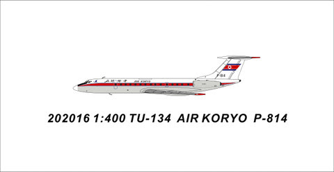 PM202016 | Panda Models 1:400 | Tupolev TU-134A Air Koryo P-814 | is due: July 2020