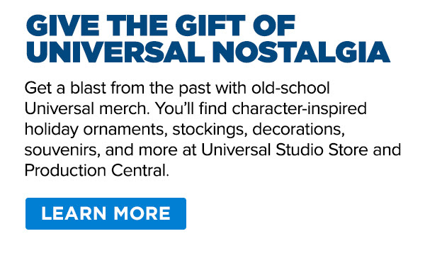 Get a blast from the past with old-school Universal merch.