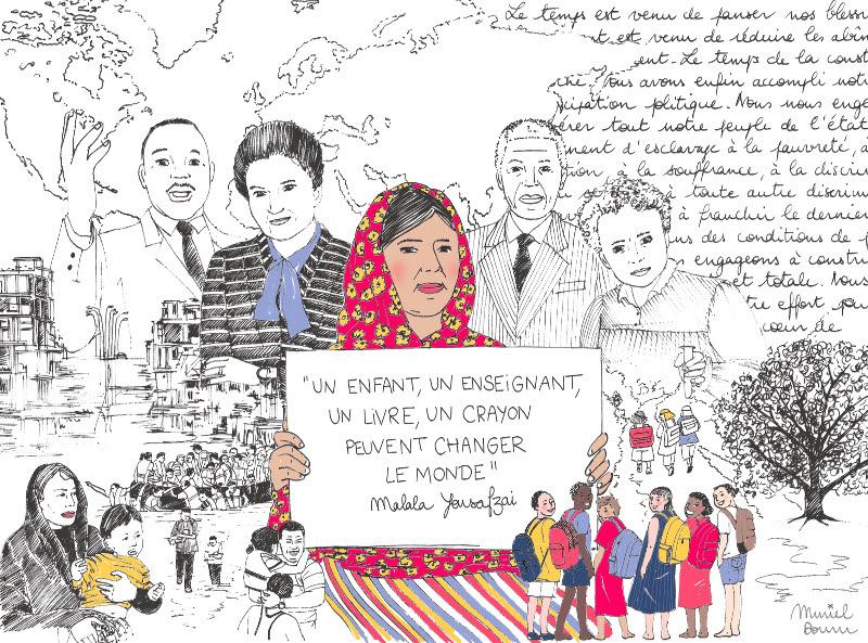 « Un enfant, un enseignant, un livre, un crayon peuvent changer le monde » Malala Yousafzai