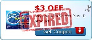 $3.00 off any one Alka-Seltzer Plus - D product
