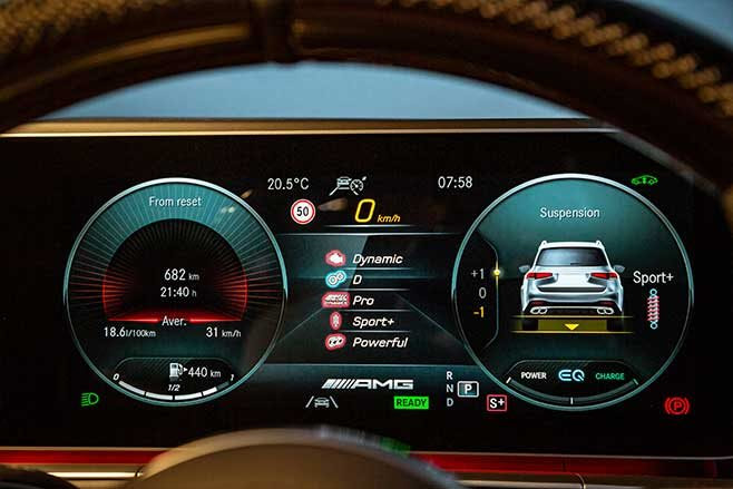 The 12.3-inch digital instrument display is standard.