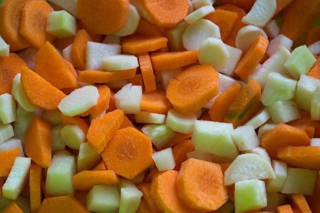 kohlrabi and carrots