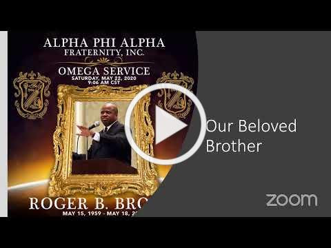 Alpha Phi Alpha Fraternity, Inc. Omega Service for sports journalist Roger B. Brown