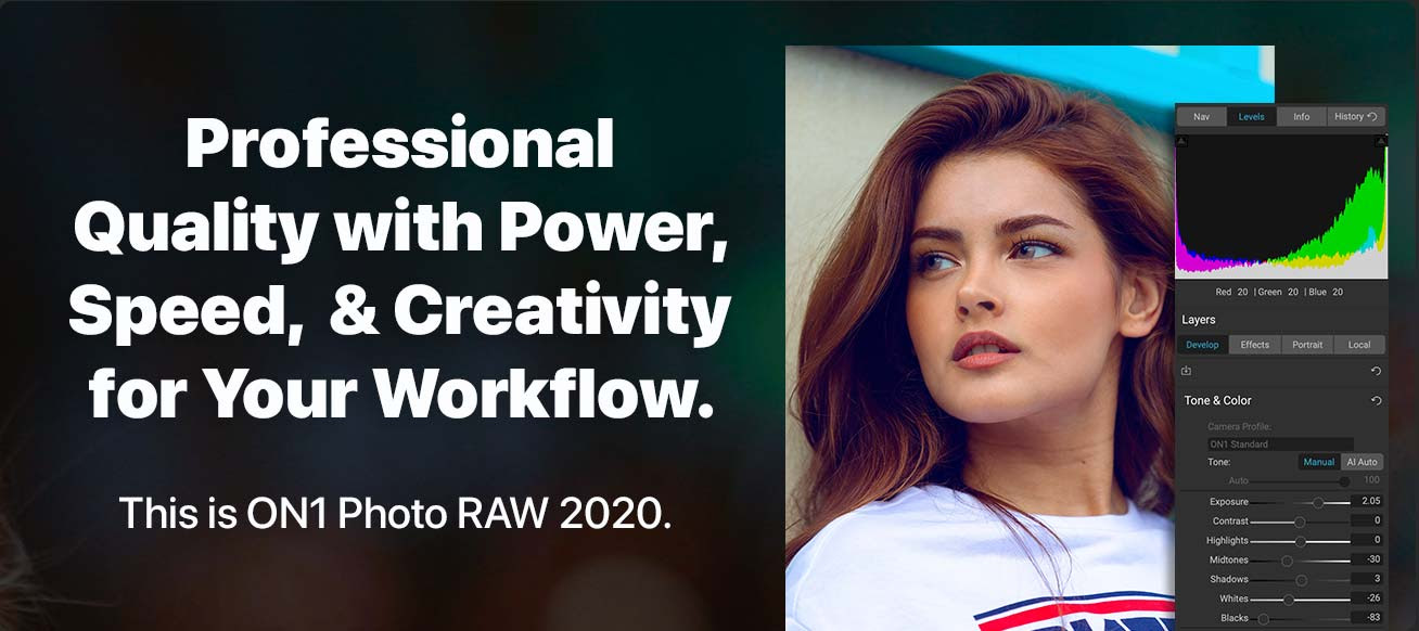 the ultimate power, speed, and creativity for professional quality photos in a single elegant application for Mac or PC.