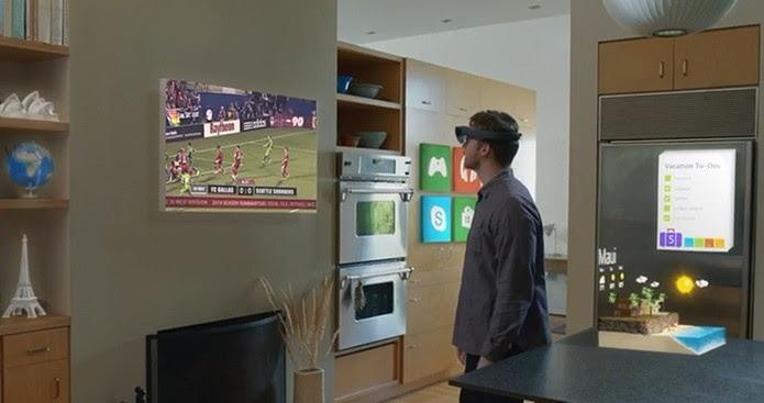 Windows Holográfico: assista seus programas favoritos em qualquer lugar (Foto: Reprodução/Barbara Mannara)
