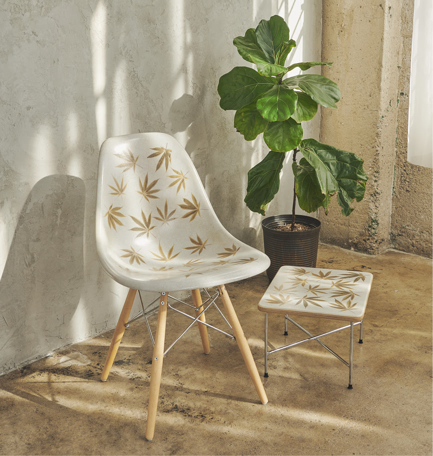 HUF x Modernica Plantlife Shell Dowell Chair and Base Table