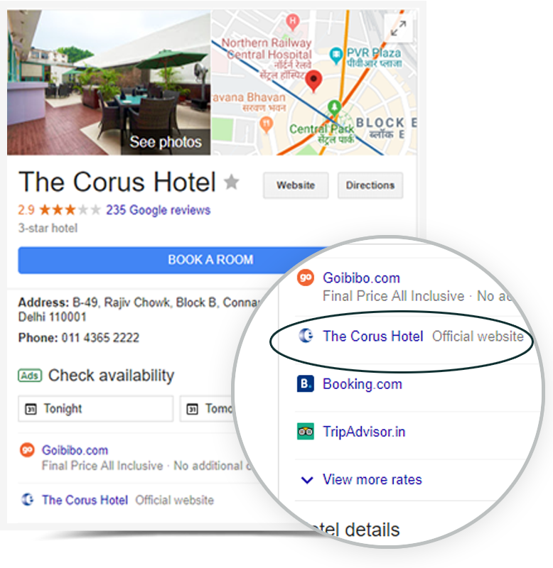 Get direct hotel bookings from Google