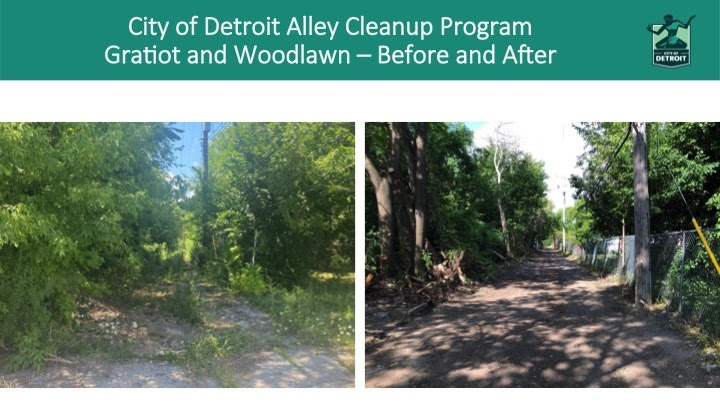 Alley Cleanup Program 2020 Before and After Photos