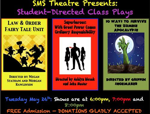 SMS Student Plays Flyer