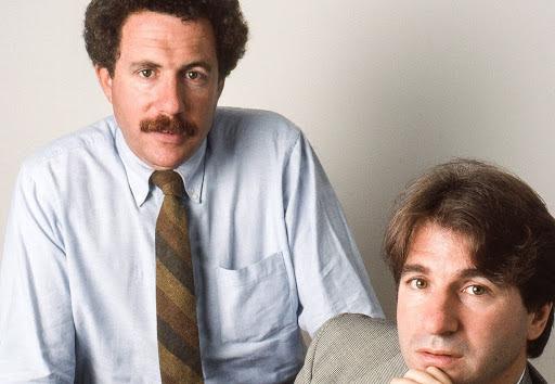 Peter Neufeld and Barry Scheck in 1989. Photo by Barbara Alper.