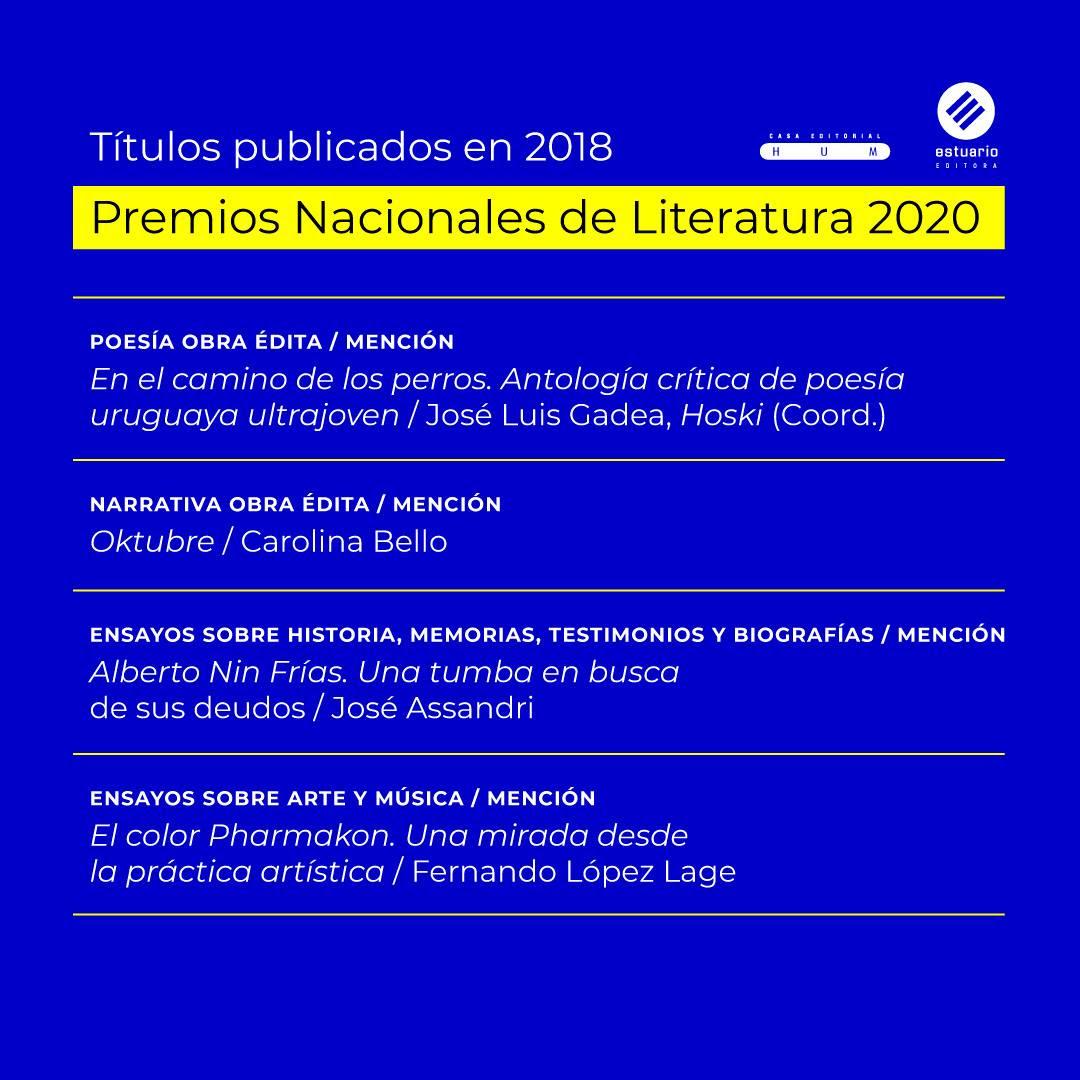 Editorial Hum | Premios Nacioanles de Literatura 2020