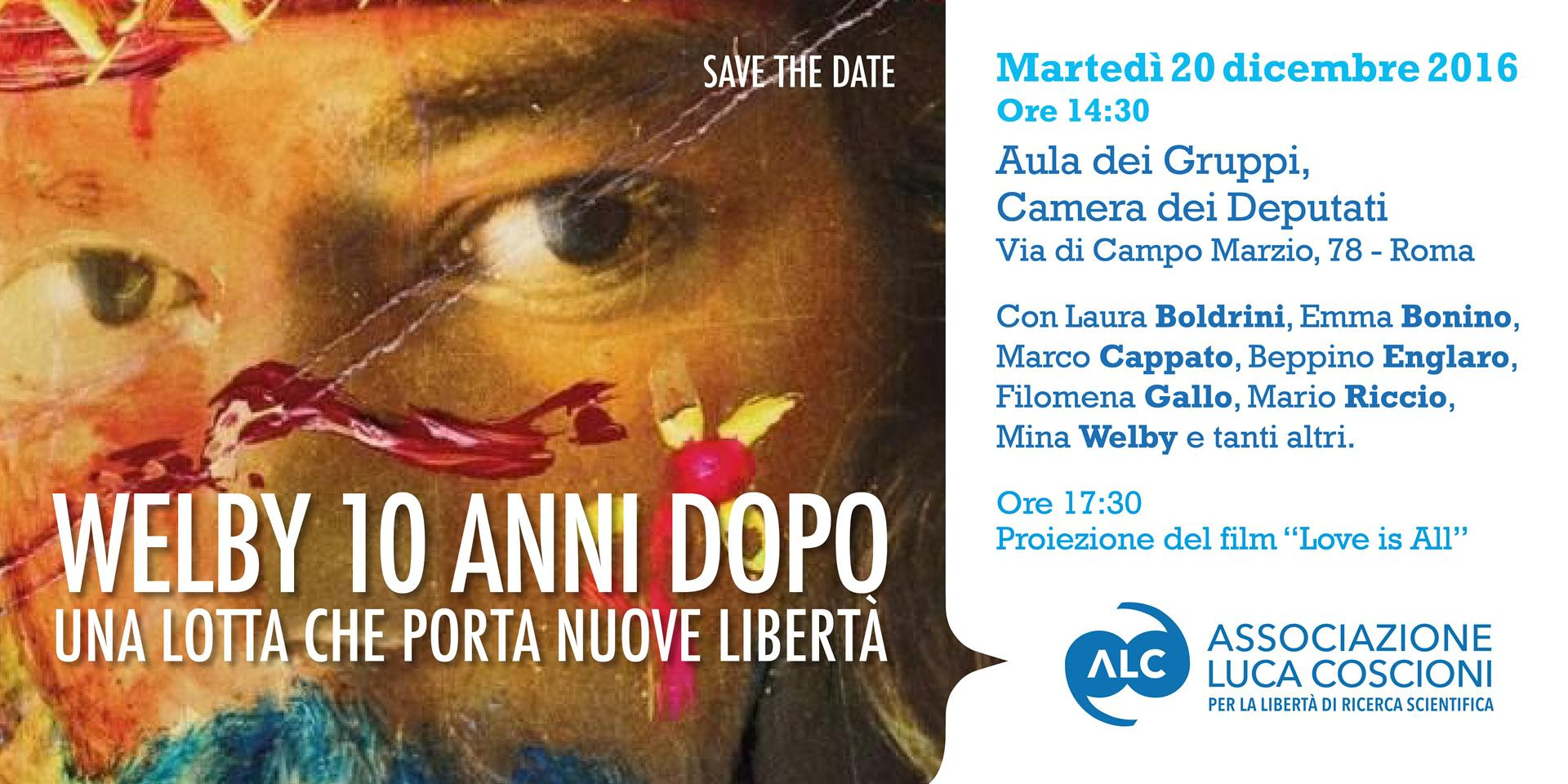 Save the date | 20 dicembre 2016 ore 14.30