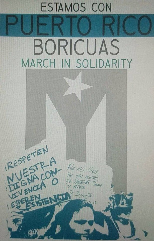 Estamos con Puerto Rico Boricuas - March in Solidarity