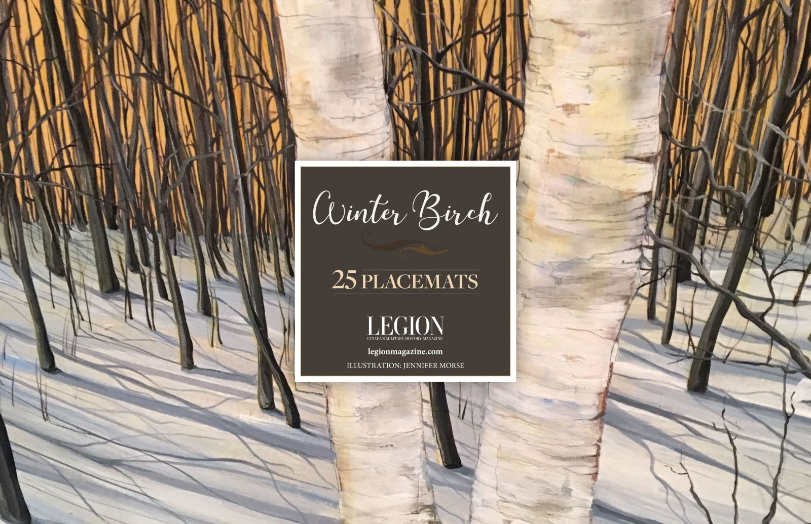 Winter Birch Placemats