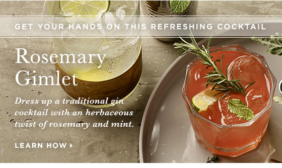 Get your hands on this refreshing Rosemary Gimlet cocktail. Dress up a traditional gin cocktail with an herbaceous twist of rosemary and mint. Learn how