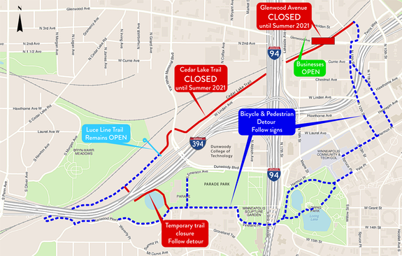 MnDOT Detour: Cedar Lake Trail in Minneapolis