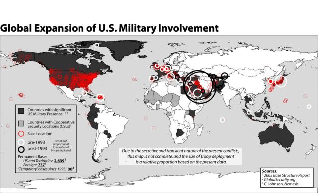 The American Empire: 737 Military Bases in 148 Countries – There are 196 Countries -Did You Know About This?