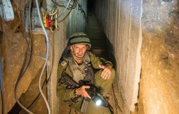 IDF soldier in Gaza tunnel