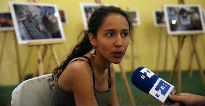 Berta Zúñiga Cáceres, la hija de la activista medioambiental Berta Cáceres, asesinada en marzo. / EFE