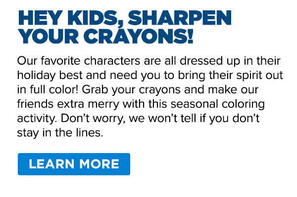 Hey Kids, Sharpen Your Crayons!