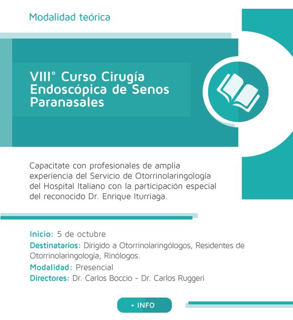 VIII° Curso Cirugía Endoscópica de Senos Paranasales