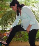 pregnant woman w repellent