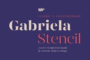 Gabriela Stencil Family - 79% off!
