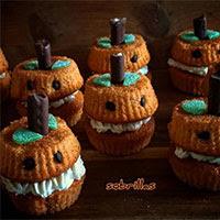 Cupcakes halloween de calabaza