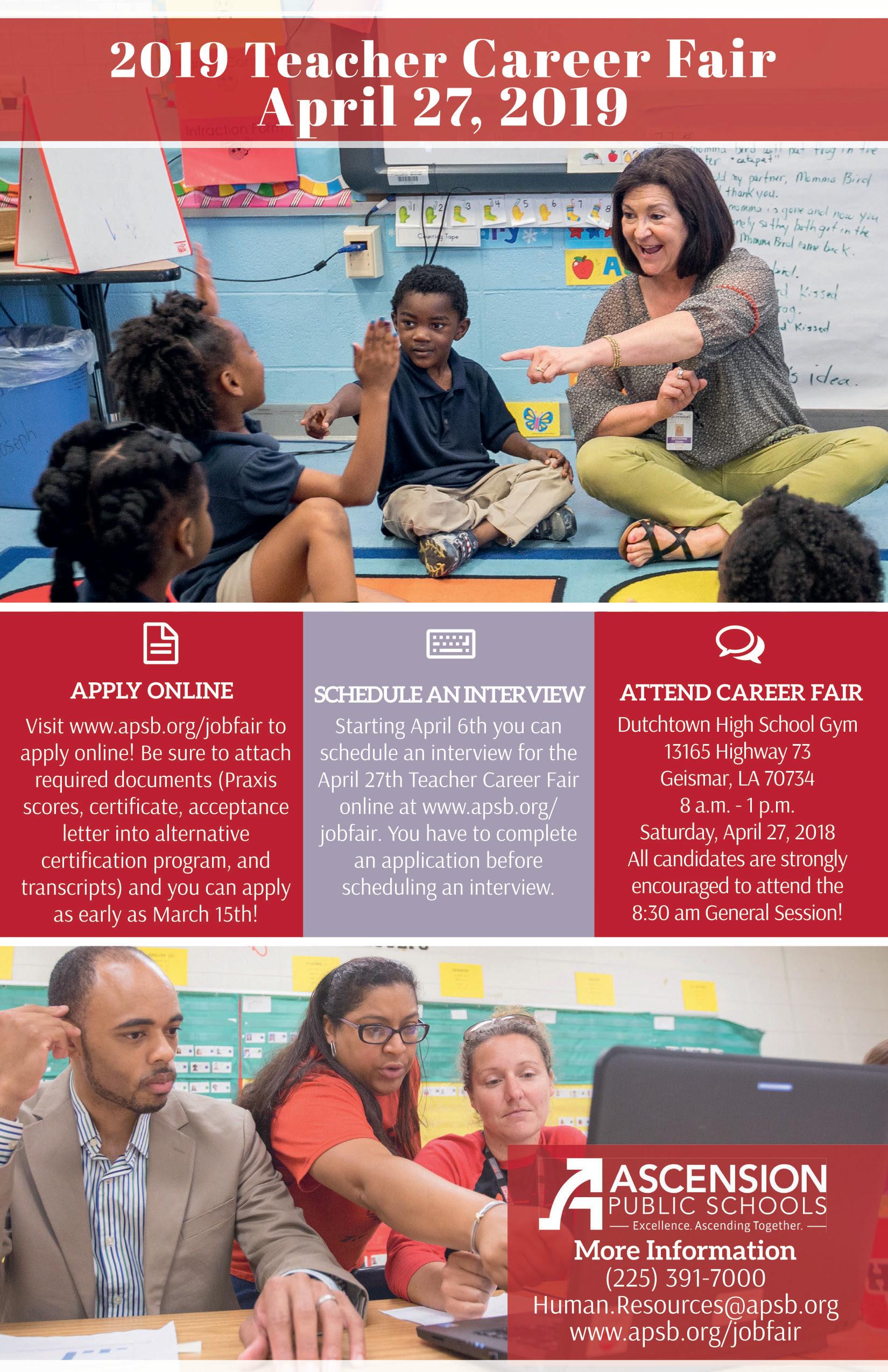 Teacher Career Fair Flyer