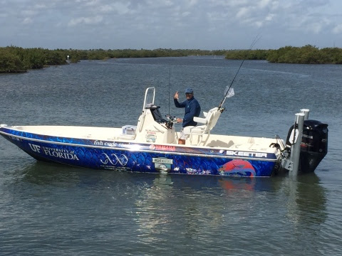 Yamaha Rightwaters and Skeeter Boats provided a Skeeter center console boat powered by a Yamaha V MAX SHO to the University of Florida. The school will use the boat to help conduct a redfish study in northern Florida. (Photo: Business Wire)