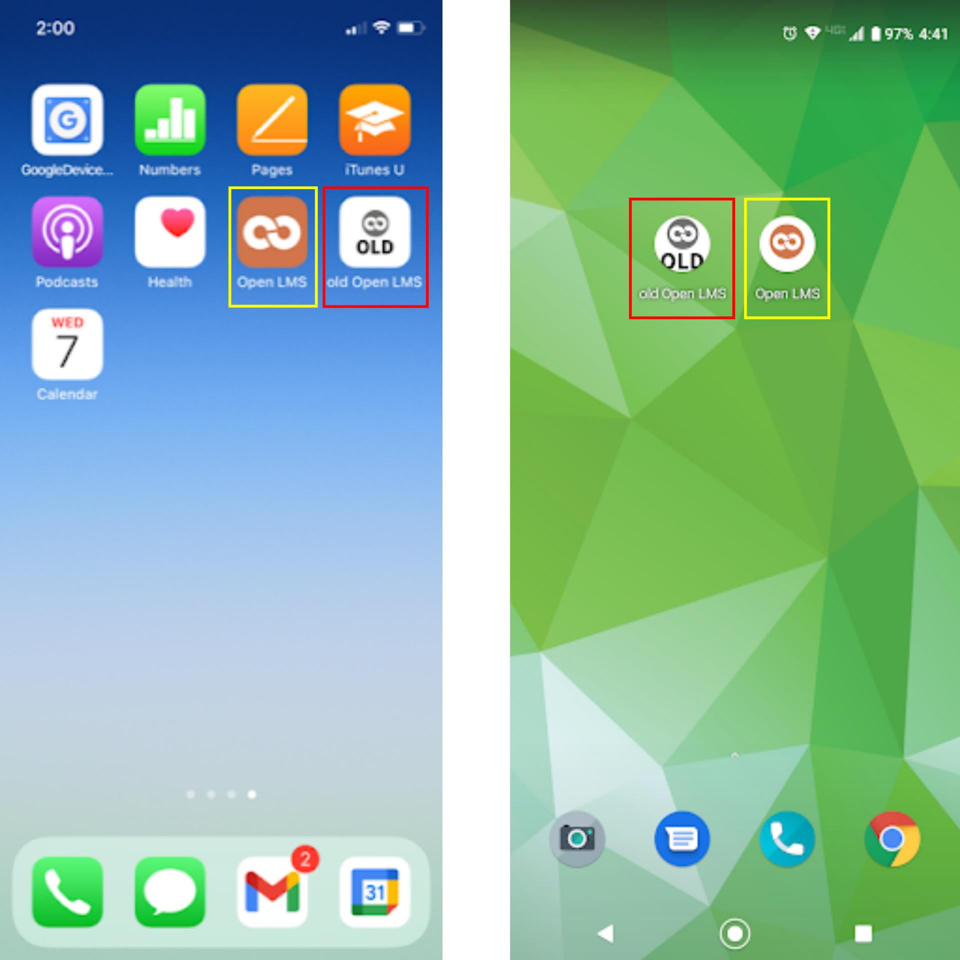 Screenshots of App Icons