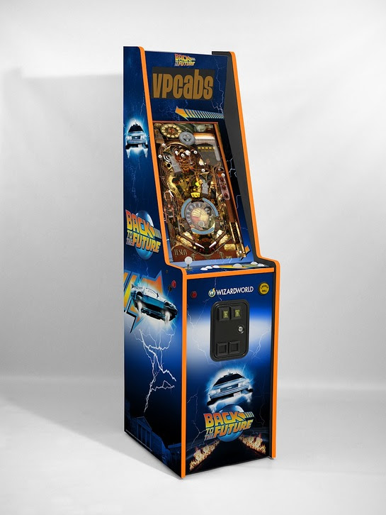 Wizard World has partnered with the Michael J. Fox Foundation to auction a custom-made, autographed BTTF pinball machine