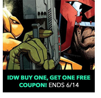 IDW Buy One, Get One Free Coupon: up to 50% off! Sale ends 6/14.