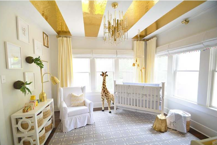 Gold Accents in the Nursery - Project Nursery