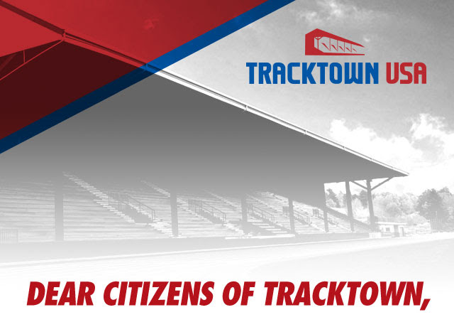 Dear Citizens of TrackTown