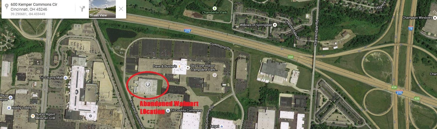 Abandoned Cincinnati Walmart Laced With Barbed Wire for Jade Helm