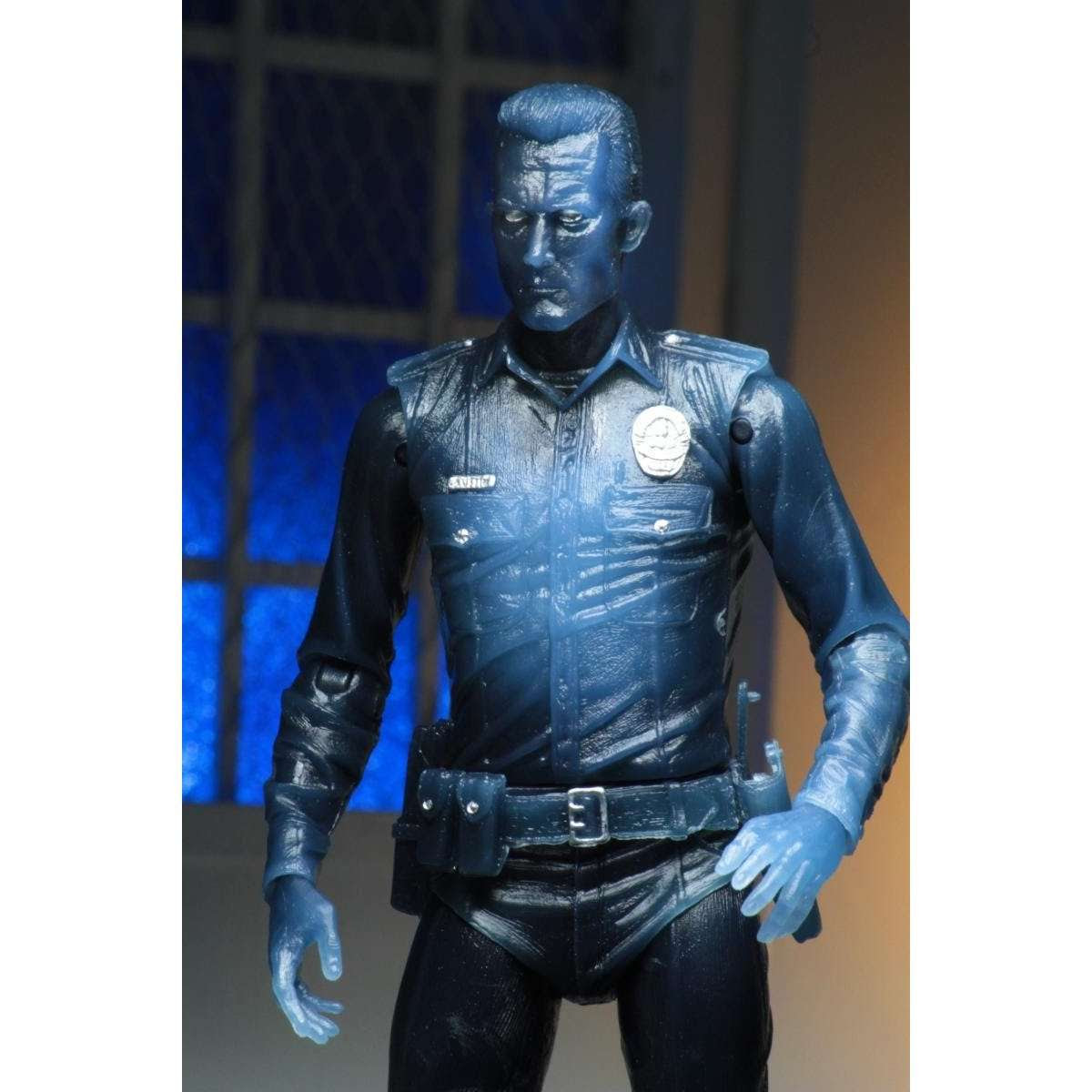 "Image of Terminator 2 - 7"" Scale Action Figure - Kenner Tribute - White Hot T-1000"