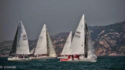 J/80s sailing off Hong Kong